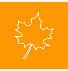 maple leaf icon Eps10 vector image