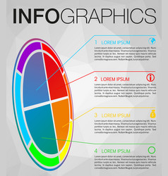 modern colorful infographics perspective circle vector image