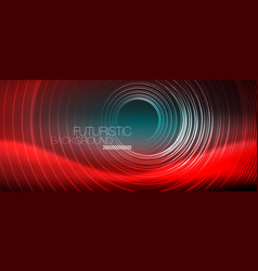 Neon glowing techno lines hi-tech futuristic vector