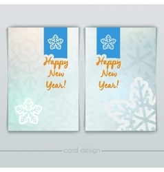 New Year Cards with Snowflakes vector image