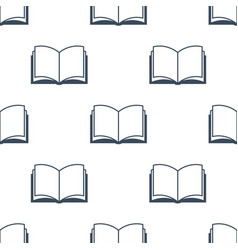 Open book seamless pattern vector