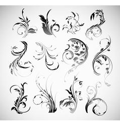 Ornament flowers vintage design elements vector