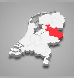 Overijssel province location within netherlands vector