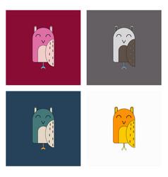 Owl - icon design on white background vector