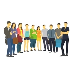 People are standing in a semicircle Set many vector image