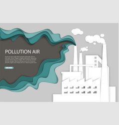 pollution air web banner template paper vector image