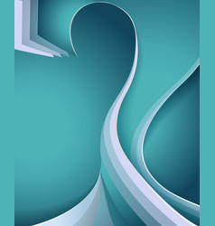 question as a cover of blue color vector image