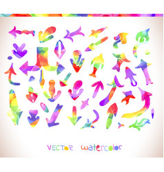 Rainbow colors arrow collection vector
