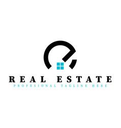 Real estate initial letter e logo design template vector