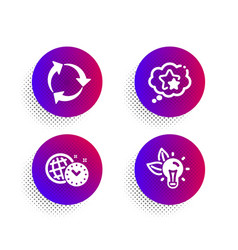 Recycle ranking stars and time management icons vector