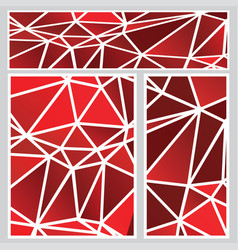 red polygonal banners vector image