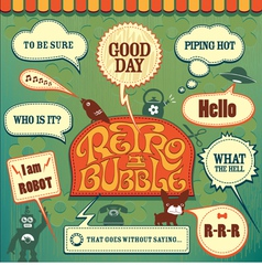 Retro set bubble vector image