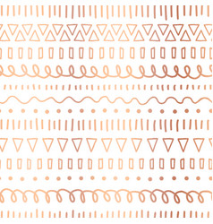 rose gold foil doodles seamless pattern vector image