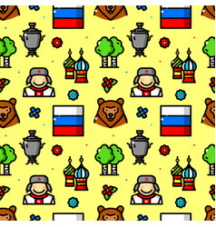 russia seamless pattern vector image