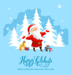 santa claus holiday card vector image