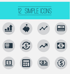 Set simple currency icons vector