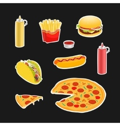 Set Symbols Fast Food vector
