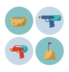 Songkran festival icons vector