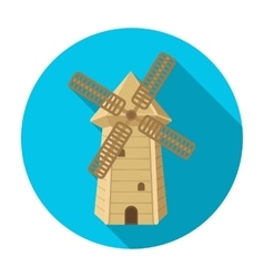 Spanish mill icon in flat style isolated on white vector image