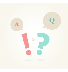 speech bubbles with question and answer vector image