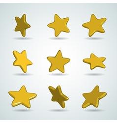Stars set vector
