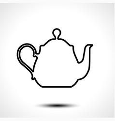 Teapot kettle tea kettle icon vector