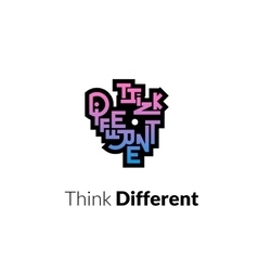 Think different phrase graffiti logo sign vector
