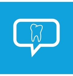 Tooth message icon vector