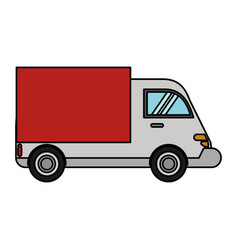 truck delivery transport image vector image