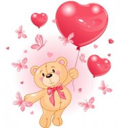 valentines teddy vector image