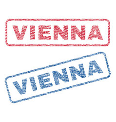 Vienna textile stamps vector