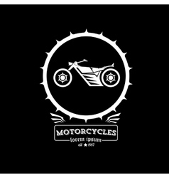 vintage motorcycle label or badge vector image