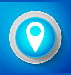 white map pin icon pointer symbol location sign vector image