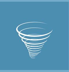Wind tornado icon vector