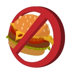 Fast food danger cartoon icon vector