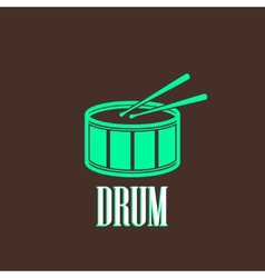 with a drum vector image