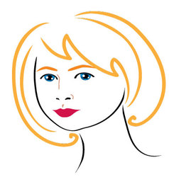 woman face drawing 4 vector image