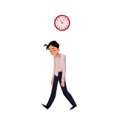 young tired upset exhausted businessman feeling vector image