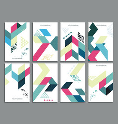 flyers abstract geometric style templates vector image