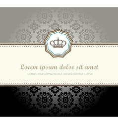 retrlo card vector image vector image