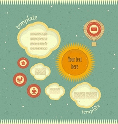 Vintage web design vector image