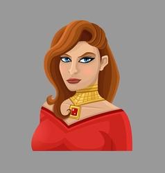 Cartoon woman 1 vector image vector image