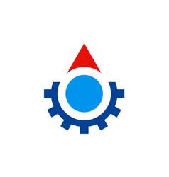 gear work abstract logo vector image