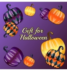 Gift for Halloween festive background vector image