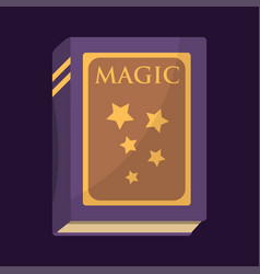 old book with magic stars text fairytale vintage vector image