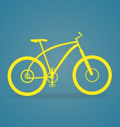 Yellow Bike Icon vector image vector image