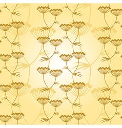 flower pattern gold vector image vector image