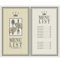 king menu vector image