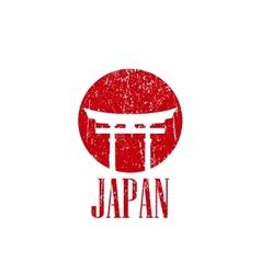 vintage with japan gate vector image