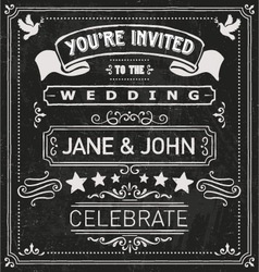 Wedding invite elements vector